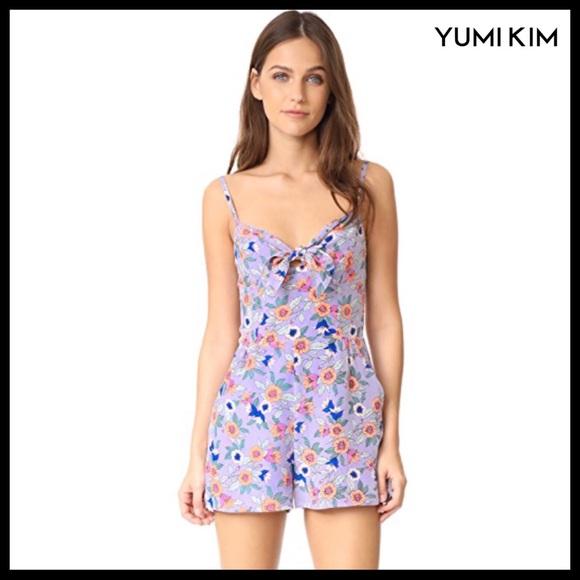 Yumi Kim Pants - YUMI KIM SPAGHETTI STRAP SILK ROMPER